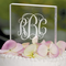 Personalized Wedding Cake Topper - Square Engraved Cake Top
