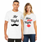 Matching Couples Mr. Right and Mrs. Always Right T-Shirts