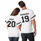 Custom Just Married Matching Couples Jerseys