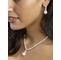 Exquisite Zirconia Strand And Pearl Drop Necklace Set