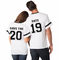 Custom Save The Date Matching Couples Jerseys