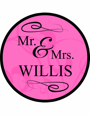 Personalized Mr. and Mrs. Dance Floor Decal in Colors