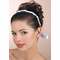 Silver and Pearl Vin Headband with Ribbon Wrap