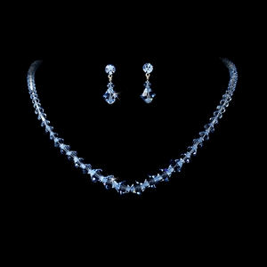 Crystal Bridal Jewelry Set - Available in Many Colors!