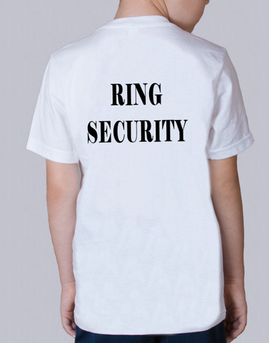 Ring Security T-Shirt for the Ring Bearer