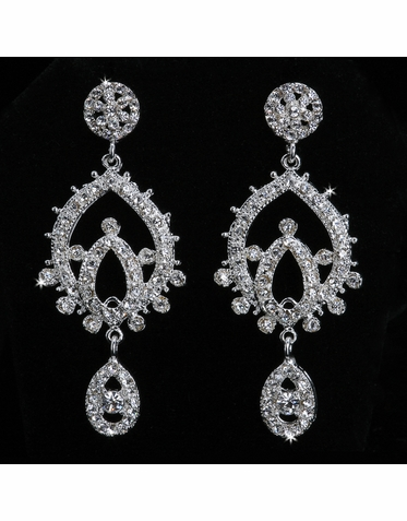 En Vogue Crystal Bridal Earrings E847