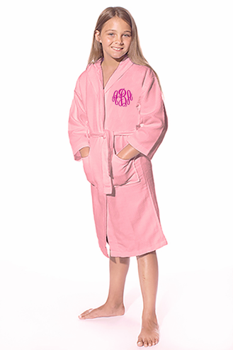 Personalized Kids Hooded Waffle Kimono Robe - Perfect Flower Girl Gift!