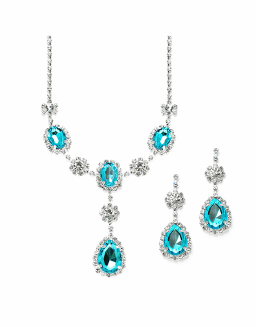 Radiant Rhinestone Pendant Necklace Available In Four Lovely Colors
