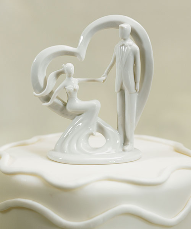 Come Away With Me Porcelain Wedding Cake Topper