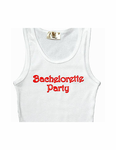 CLEARANCE: Glow in the Dark Bachelorette Party Tank Top