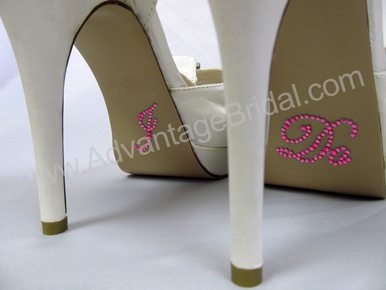 I Do Stickers for Bridal Shoes - Hot Pink