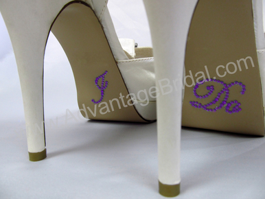 I Do Stickers for Bridal Shoes - Purple