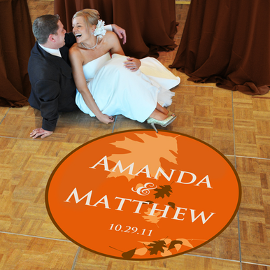 Dance Floor Decals: Autumn Wedding