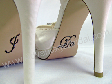 I Do Stickers for Bridal Shoes - Black.