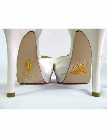 I Do Stickers for Bridal Shoes - Gold