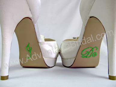 I Do Stickers for Bridal Shoes - Green