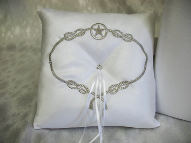 Rope It Up Silk Ring Bearer Pillow