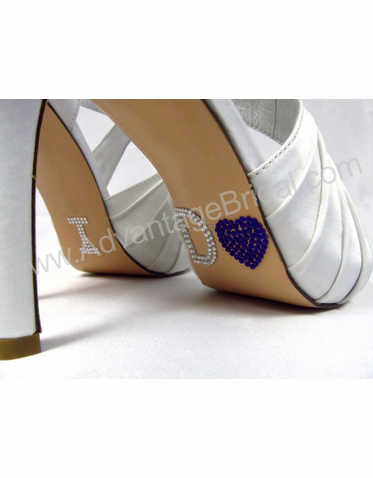 I Do Heart Shoe Stickers for Wedding Shoes in Purple
