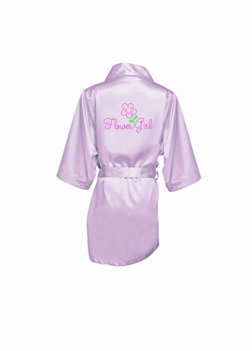 Rhinestone Flower Girl Robe