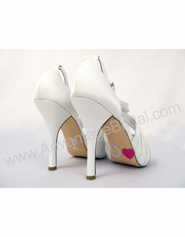 I Do Shoe Stickers for Bridal Shoes - Hot Pink Heart