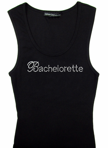 Rhinestone Bachelorette Tank Top or T-Shirt
