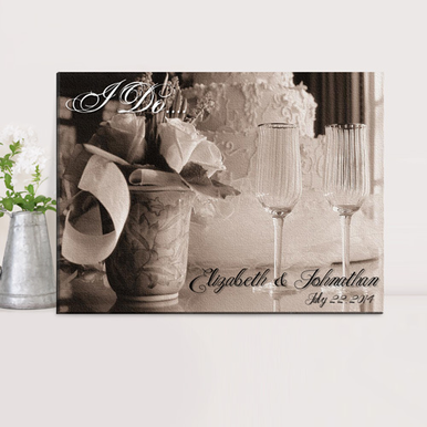 "Personalized ""I Do"" Wedding Canvas Print"