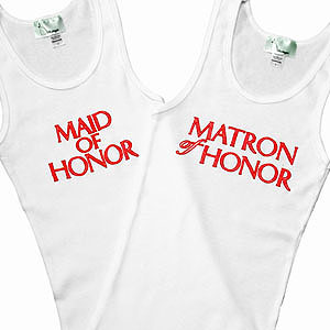 CLEARANCE: Glow in the Dark Maid of Honor Tank and Matron of Honor Tank