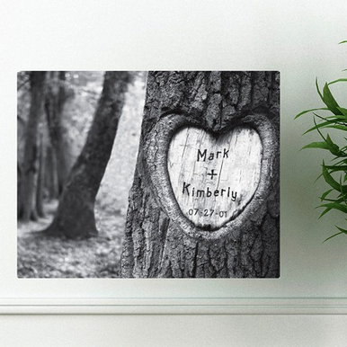 "Canvas ""Tree of Love"" Couples Custom Print"