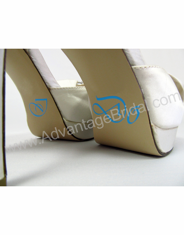 Vivaldi Script I Do Wedding Shoe Stickers