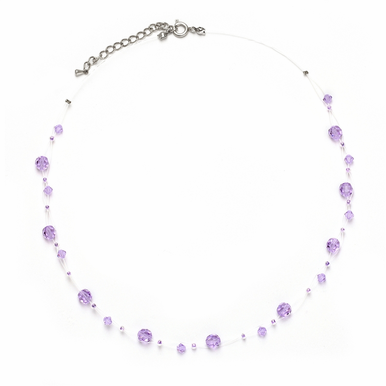 Custom Made Swarovski Crystal Illusion Necklace In 30 Gorgeous Colors