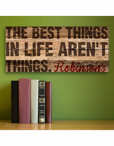 """Personalized """"Best Things In Life Aren't Things"""" Family Print"""
