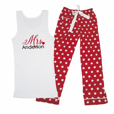 Custom Printed Mrs. Pajama Set