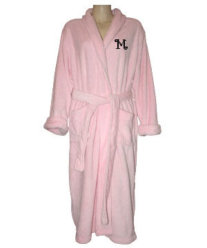 Luxury Monogrammed Bath Robe with Shawl Collar