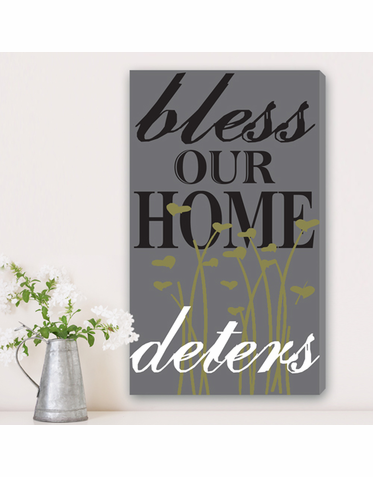 Family Blessings Personalized Canvas Print