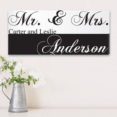 Custom Canvas Couples Print