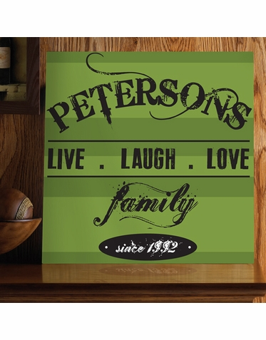 """""""Live Laugh Love"""" Personalized Family Print"""