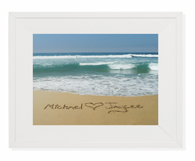 Writing in the Sand Photo Framed Art - Great Newlywed Gift!