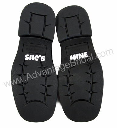 She's Mine Custom Wedding Shoe Stickers