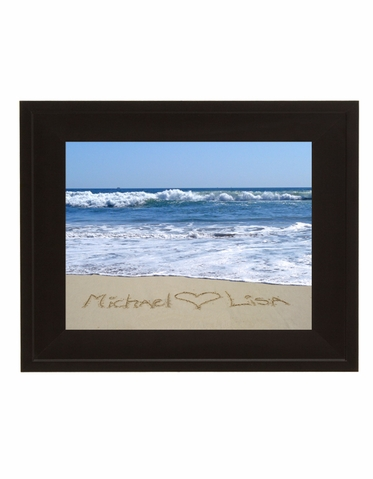 Writing in the Sand Custom Photograph with Frame