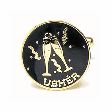 Usher Cufflinks - A Special Thank You To Your Ushers