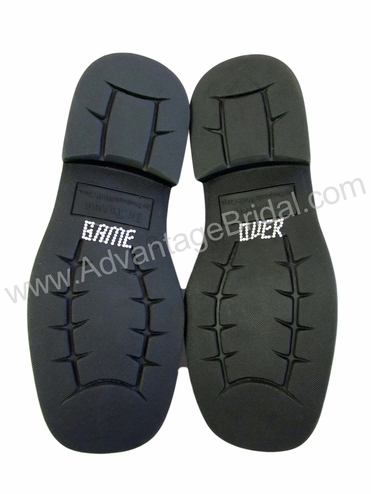 Game Over Shoe Stickers for the Groom - Clear
