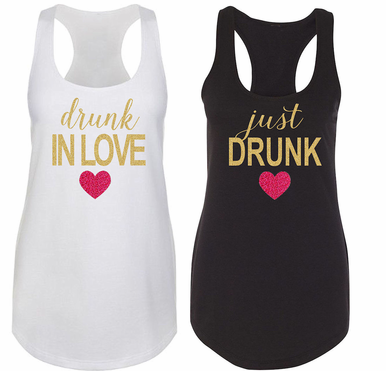 Drunk In Love - Just Drunk Tee, Tank or Tote