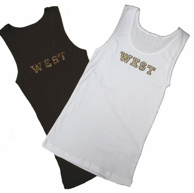 West High School Rhinestone Tee or Tank