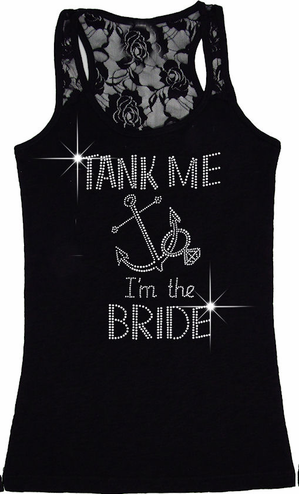 Help Us Tank Her and Tank Me I'm the Bride Tank Tops