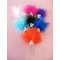 Marabou and 3 Crystal Hair Piece - Variety of Colors