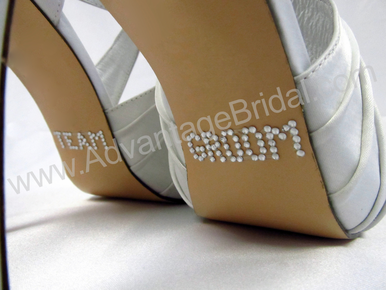 Team Groom Shoe Stickers - Great for the Bridal Party!