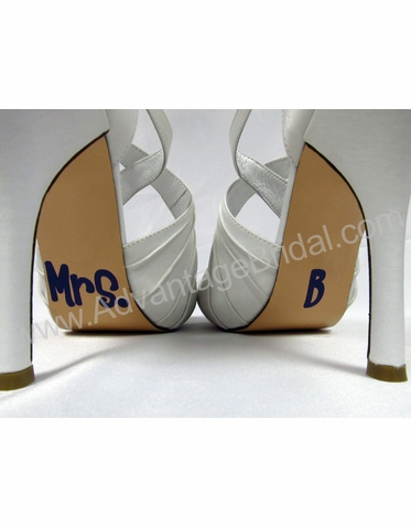 Custom Mrs. Shoe Stickers for Wedding Shoes