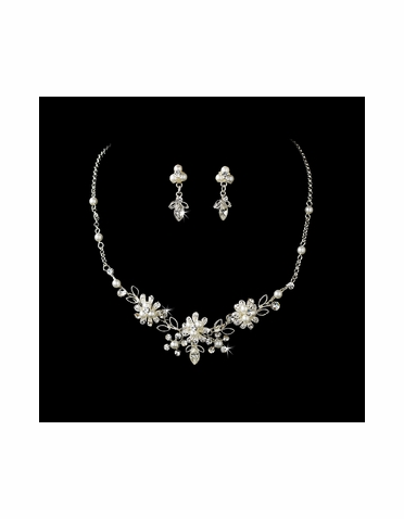 Crystal & Pearl Couture Jewelry Set NE-6858