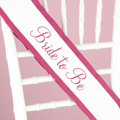 Custom Bride to Be Sash in Colors