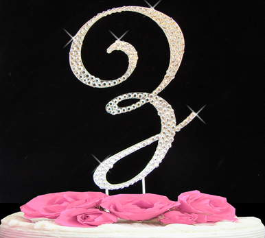 Letter Cake Topper Cake Initial Toppers Z
